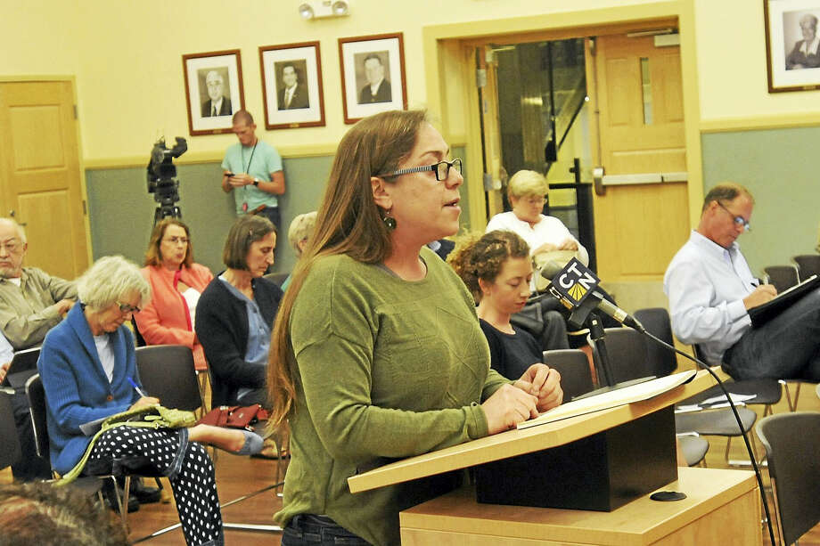 A public hearing on the draft 2017 Comprehensive Energy Strategy currently being crafted by DEEP was held Tuesday in Torrington. Above, Martha Klein, chairperson of the Connecticut Sierra Club, speaks during the hearing. Photo: Ben Lambert / Hearst Connecticut Media