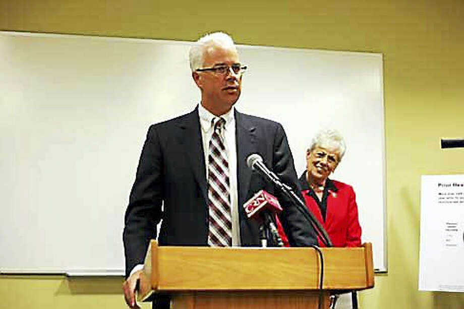 Access Health CT CEO James Wadleigh and Lt. Gov. Nancy Wyman Photo: Ctnewsjunkie File Photo