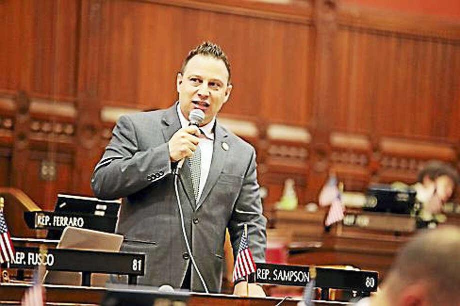 Rep. Rob Sampson earlier this year participates in a floor debate. Photo: Christine Stuart / Ctnewsjunkie