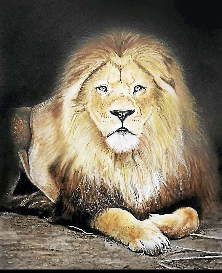 Guests who attend the Aug. 20 concert will have the opportunity to bid on a painting of Cecil the Lion by David Roelofs. Photo: Contributed Photo