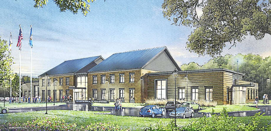 An architectural rendering of the proposed new East Hampton municipal building. Photo: Courtesy Marc A Moura