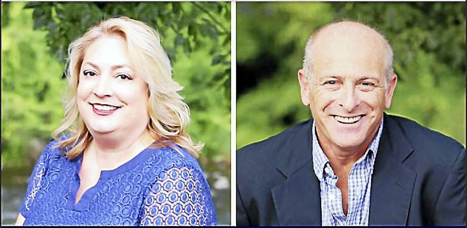 Laura Garay and Eric Claman are running on the Democratic ticket to serve as First Selectman and a Selectman in New Hartford. Photo: CONTRIBUTED PHOTO