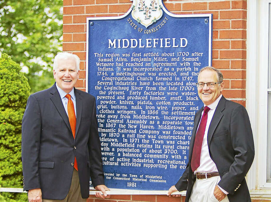 First Selectman Ed Bailey, left, and Bob Yamartino of Middlefield Photo: Courtesy Middlefield Republicans