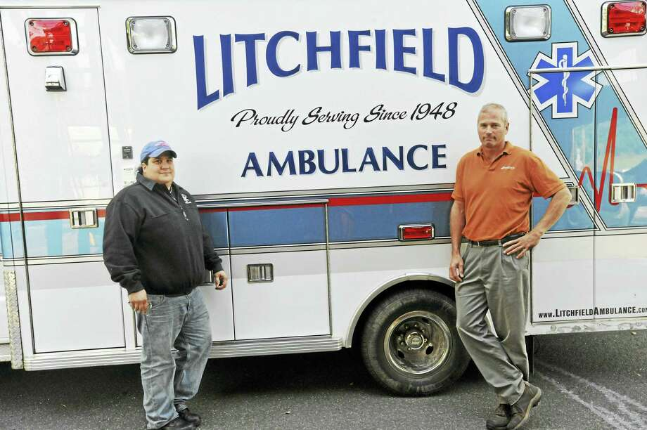Litchfield Volunteer Ambulance chief Nicole Diorio and Morris First Selectman Tom Weik met recently to discuss their concerns about several incidents involving members of the Morris Volunteer Fire Department and members of the LVA. Diorio filed a complaint with the state police's Western District Major Crime Unit, alleging she has been threatened and harassed by members of the department. Photo: Ben Lambert / Hearst Connecticut Media