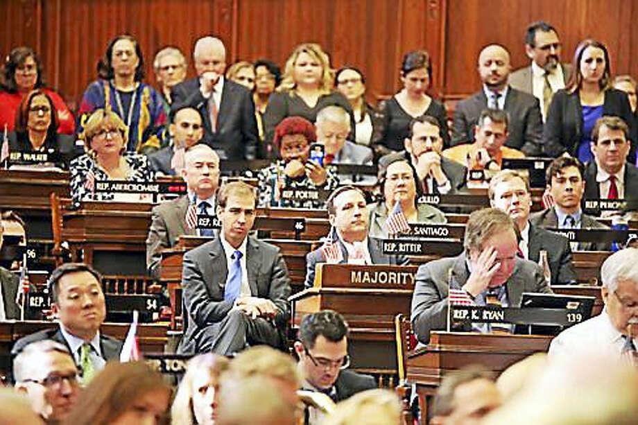 Hartford Mayor Luke Bronin in the House chamber this past February. Photo: CTNewsJunkie File Photo