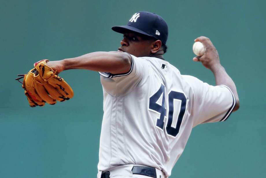 Luis Severino struck out nine in Sunday's win over the Indians. Photo: Ron Schwane — The Associated Press  / AP 2017
