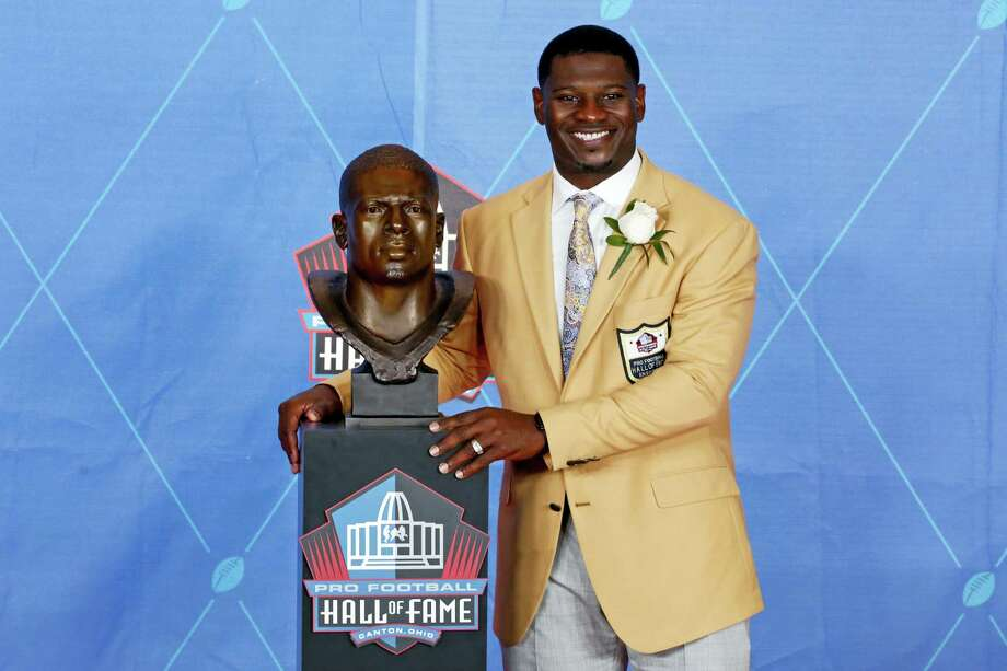 LaDainian Tomlinson poses with a bust of himself during Saturday's Hall of Fame induction ceremony. Photo: Gene J. Puskar — The Associated Press  / Copyright 2017 The Associated Press. All rights reserved.