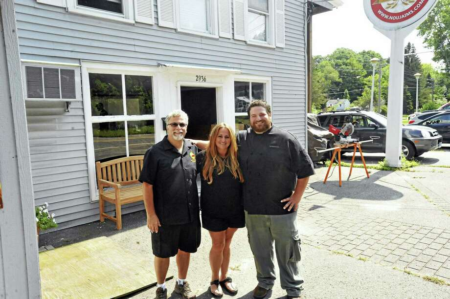 Ben Lambert / Hearst Connecticut Media  The Gabriel family is preparing to open Zach and Lou's Barbecue at 2936 Winsted Road in Torrington. From left, Lou, Gina, and Zach Gabriel. Photo: Digital First Media