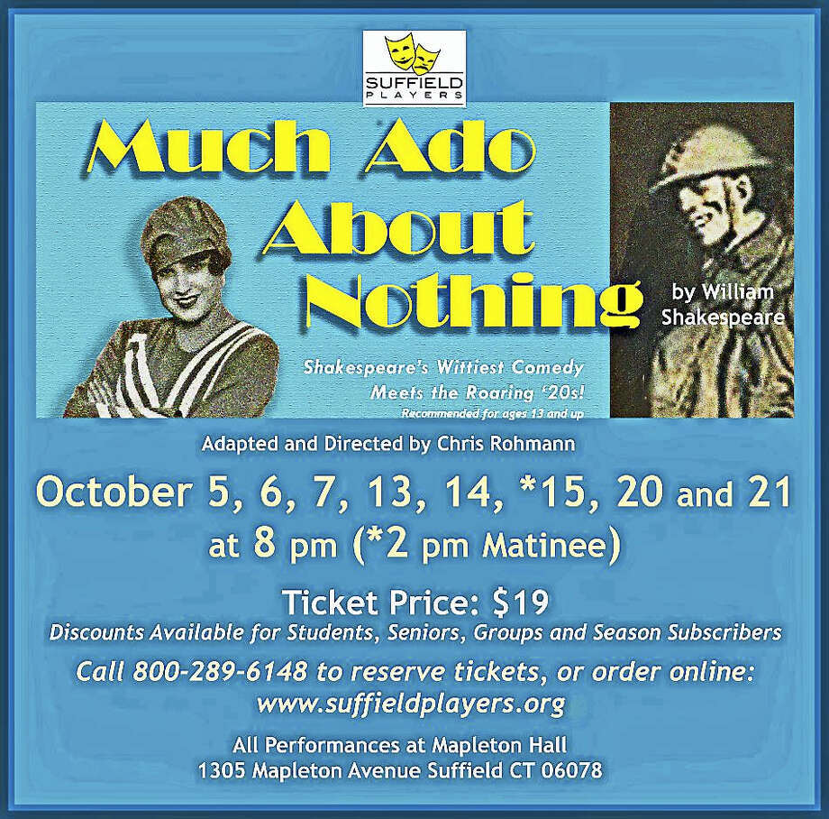 """The Suffield Players will stage""""Much Ado About Nothing"""" in October. Photo: Contributed Photo"""