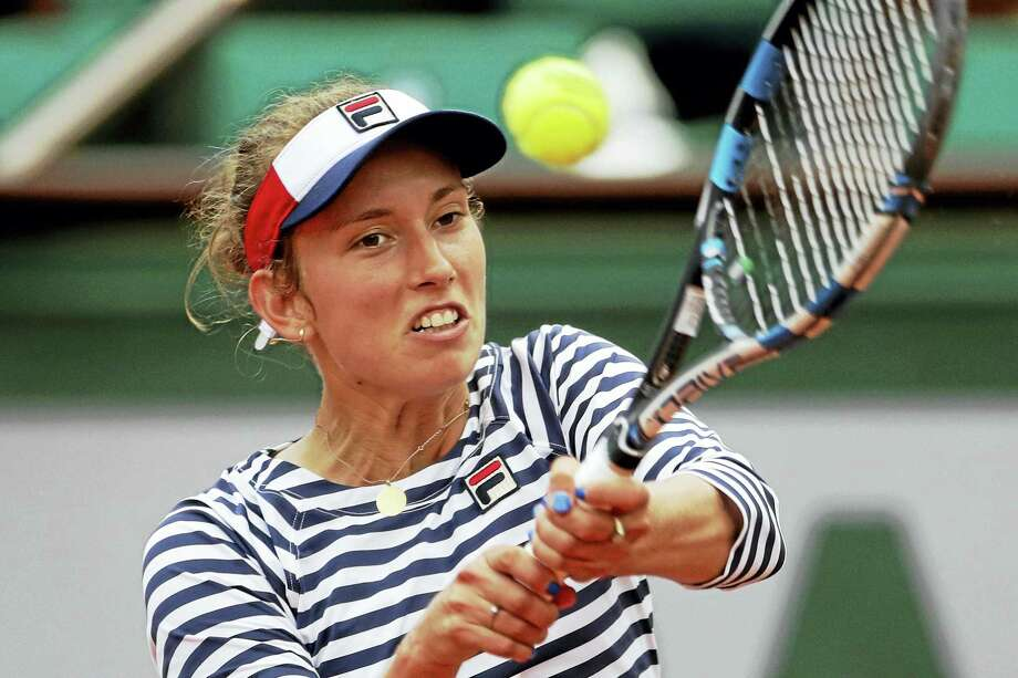 Belgium's Elise Mertens, shown here at the French Open earlier this year, has advanced to the Connecticut Open semifinals. Photo: The Associated Press File Photo  / Copyright 2017 The Associated Press. All rights reserved.