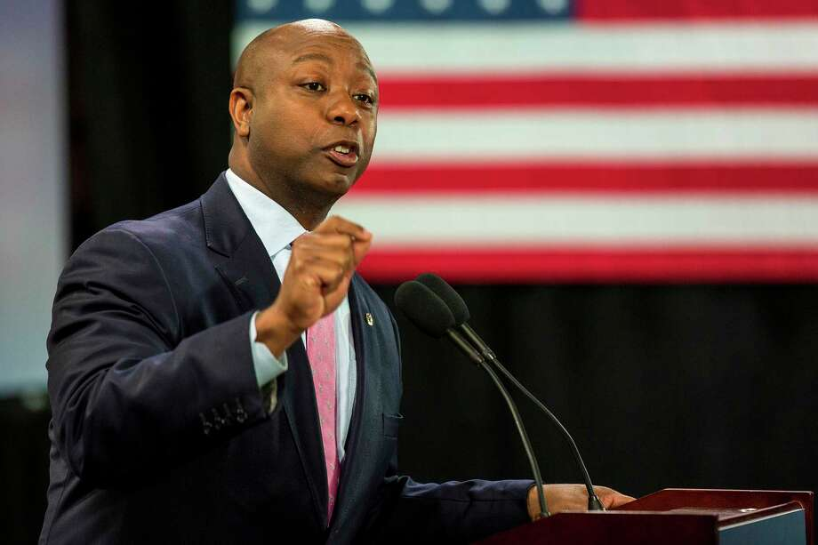 Sen. Tim Scott, R-S.C., is more popular in South Carolina than his white Senate colleague Lindsey Graham, one study found. Photo: Alex Holt / The Washington Post / Alex Holt