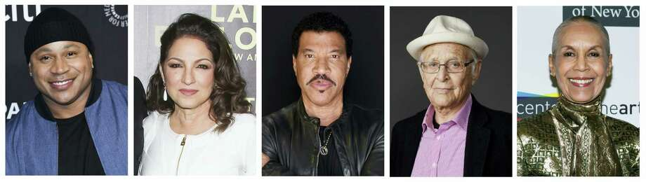 This combination photo shows, from left, musicians LL Cool J,  Gloria Estefan, Lionel Richie, TV producer Norman Lear and dancer Carmen de Lavallade who were named as recipients of the 2017 Kennedy Center Honors. The honorees will be celebrated at a gala on Dec. 3, featuring performances and tributes from top entertainers and attended by President Donald Trump and first lady Melania Trump. The show will be broadcast on Dec. 26 on CBS. Photo: AP Photo/File   / AP
