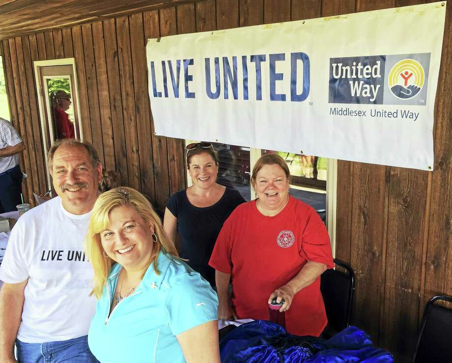 Pratt and Whitney employees took part in their company's golf tournament to benefit the Middlesex United Way earlier this week. Photo: Contributed Photo