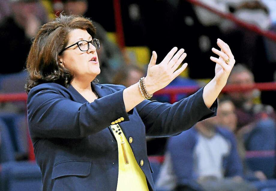 Quinnipiac head coach Tricia Fabbri. Photo: The Associated Press File Photo  / Hans Pennink