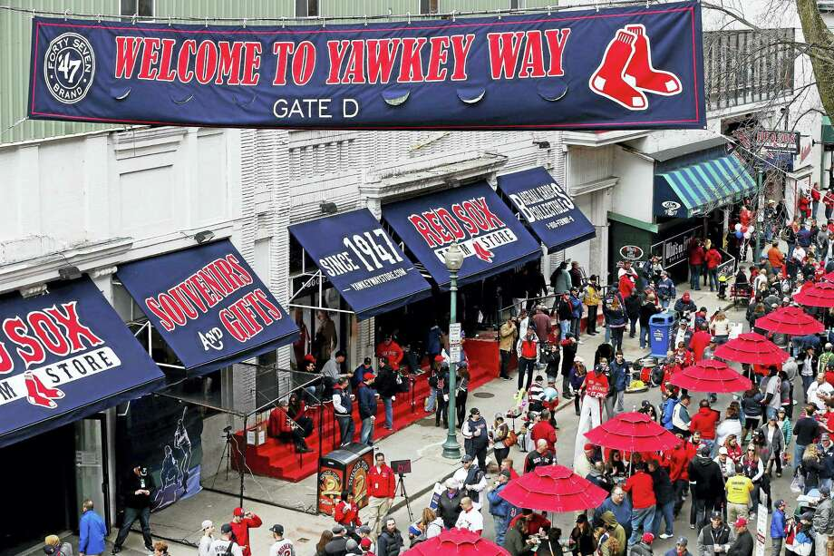 Yawkey Way outside Fenway Park in Boston. Photo: Michael Dwyer — The Associated Press  / AP