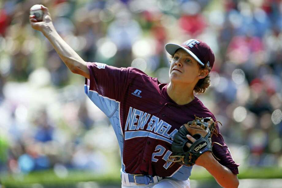 Fairfield American pitcher Michael Iannazzo delivers in the second inning against Lufkin, Texas at the Little League World Series on Sunday. Photo: Gene J. Puskar — The Associated Press   / Copyright 2017 The Associated Press. All rights reserved.