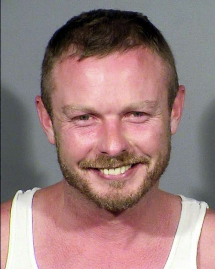 This Wednesday, Aug. 9, 2017, booking photo provided by the Las Vegas Metropolitan Police Department shows Jesse Webb. Las Vegas police say Webb, 37, who jumped onto the stage at a Britney Spears concert, will face a trespassing charge. Police say security had asked him to leave the Wednesday night concert before he jumped onto the stage and started dancing. He was arrested and taken to the Clark County jail. Photo: Las Vegas Metropolitan Police Department Via AP   / Las Vegas Metropolitan Police Department