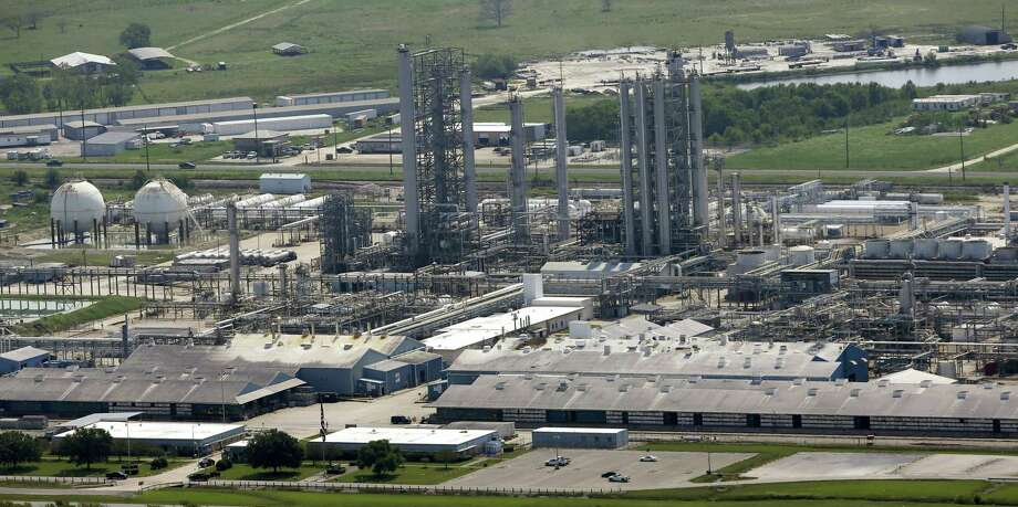 The Goodyear Chemical Plant is shown in this aerial view Friday, Sept. 1, 2017, in Beaumont, Texas. Photo: AP Photo/David J. Phillip  / Copyright 2017 The Associated Press. All rights reserved.