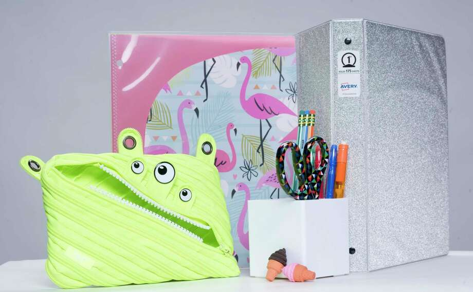 School supplies this year feature colors and patterns on usually plain items such as scissors and binders. Photo: Washington Post Photo — Marvin Joseph  / The Washington Post