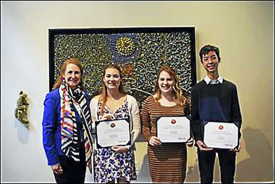 Esty with Molly Humphreys, Shannon Rupar, and Charit Charitabuta, the 2017 Congressional Art Competition Winners. Photo: Contributed Photos