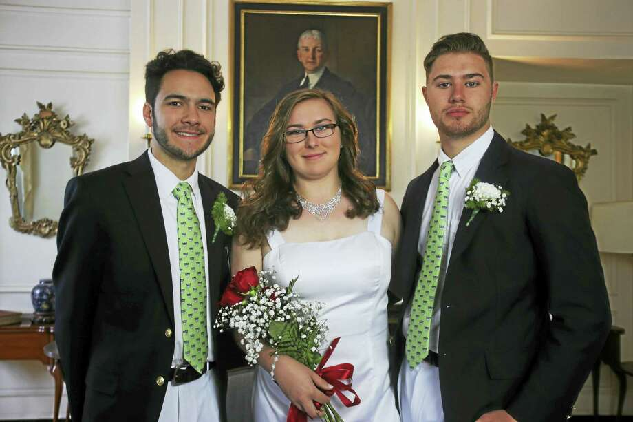 Chase Collegiate School in Waterbury celebrated graduation in June. Local graduates, from left, included John D'Aversa, Jr., of Northfield, Kaylee Kisselburgh of Thomaston and Gregory Nashe of Harwinton. Photo: Contributed Photo