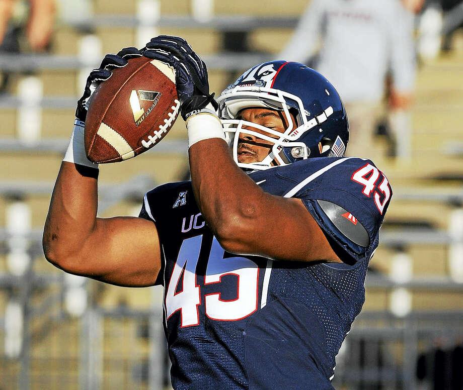 UConn linebacker Chris Britton. Photo: The Associated Press File Photo  / FR153656 AP