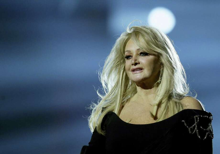 """In this May 17, 2013, file photo, Bonnie Tyler performs her song """"Believe in Me"""" during a rehearsal for the final of the Eurovision Song Contest at the Malmo Arena in Malmo, Sweden. Royal Caribbean announced Aug. 16, 2017, that Tyler will perform her hit, """"Total Eclipse of the Heart"""", at sea on the day of the total eclipse Monday during a """"Total Eclipse Cruise."""" Photo: AP Photo/Alastair Grant, File   / Copyright 2017 The Associated Press. All rights reserved."""