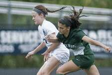 Immaculate High School girls soccer in a game against New Milford High School, played at Immaculate. Tuesday, Sept. 19, 2017