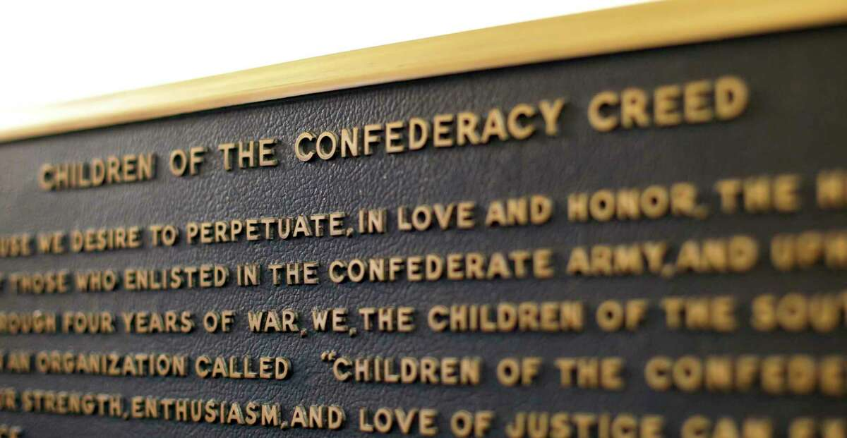 The Children of the Confederacy Creed plaque at the Capitol.