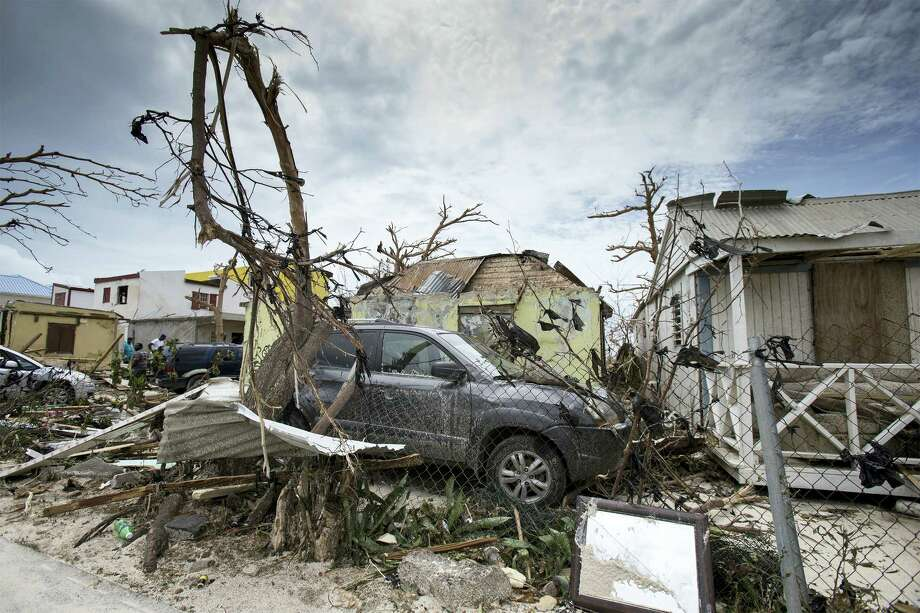 This Sept. 7, 2017 photo provided by the Dutch Defense Ministry shows storm damage in the aftermath of Hurricane Irma, in St. Maarten. Irma cut a path of devastation across the northern Caribbean, leaving thousands homeless after destroying buildings and uprooting trees. Significant damage was reported on the island that is split between French and Dutch control. Photo: Gerben Van Es/Dutch Defense Ministry Via AP  / Mediacentrum Defensie MCD@mindef.nl Foto Gerben van Es