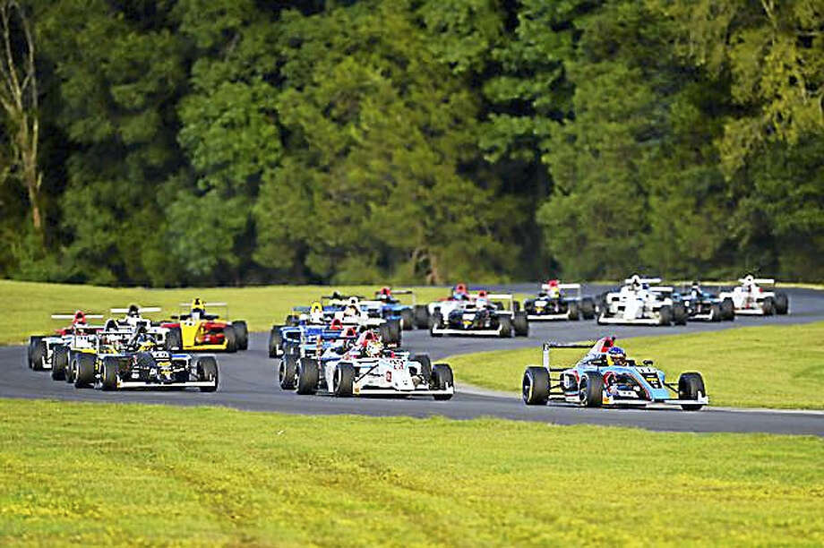 CONTRIBUTED PHOTO New Hartford native Tyler O'Connor has traveled across the country to pursue his love of open-wheel racing. Above, O'Connor competes in the F4 Championship at the Virginia International Raceway in August. Photo: Digital First Media