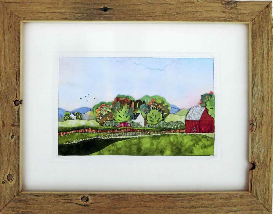 Works of art by artist Angela Suter Liptack will be on display at the Stairwell Gallery at the Gunn Memorial Library in Washington from Sept. 16-Oct. 28. Photo: Contributed Photo