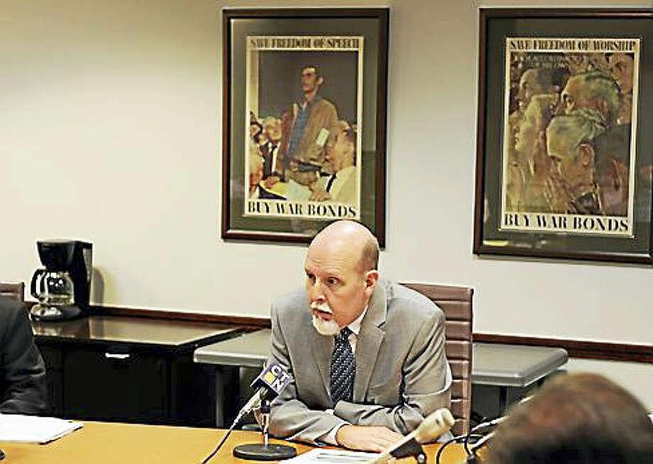Sen. Joe Markley, R-Southington, testifies Thursday. Photo: Christine Stuart / Ctnewsjunkie