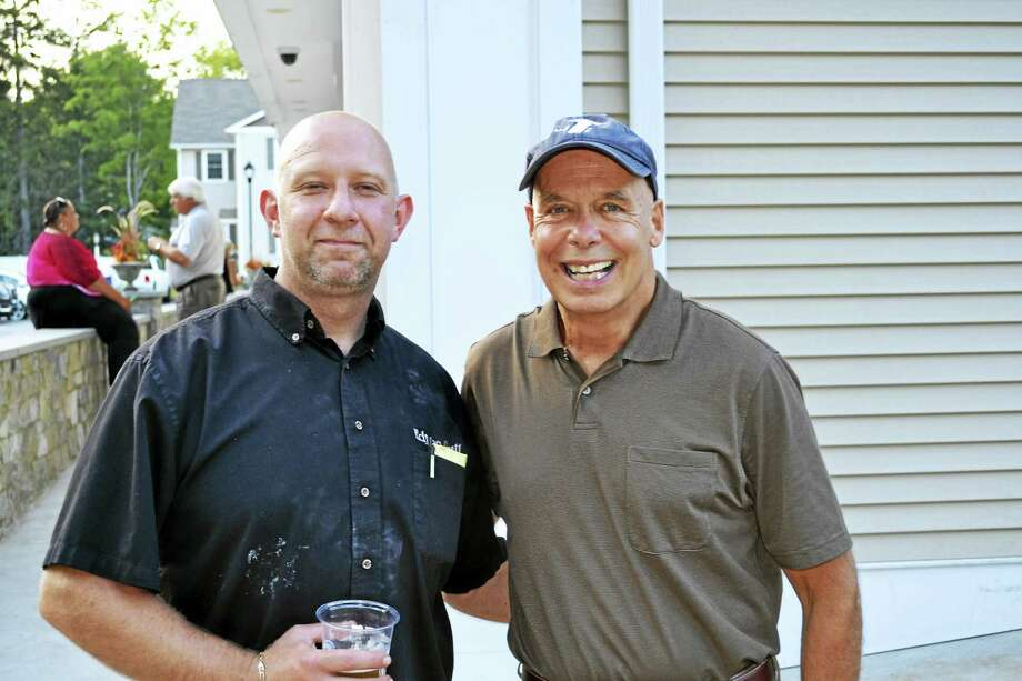 Edison Grill Owner Jerry Czyz and Northwest CT YMCA Board member Marty Connor share a smile at last year's event. Photo: Contributed Photo