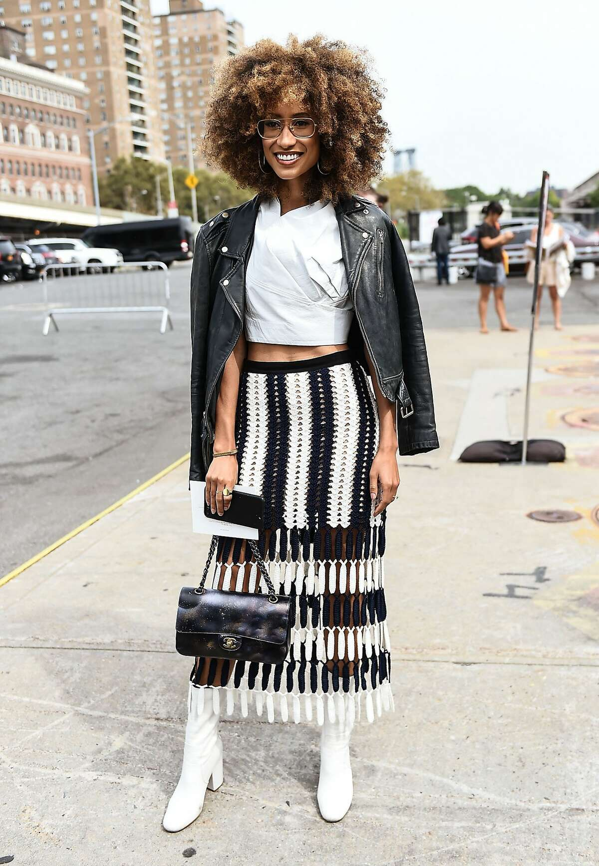 NEW YORK, NY - SEPTEMBER 12: Elaine Welteroth is seen outside the Coach show during New York Fashion Week: Women's S/S 2018 on September 12, 2017 in New York City.