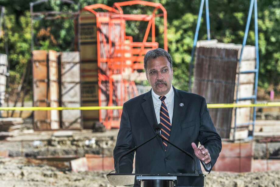 Dr. Fred Venditti, executive vice president for System Care Delivery + Hospital General Director, Albany Med speaks at the ceremonial groundbreaking for the Albany Med's Medical Facility Tuesday Sept. 19, 2017 in Latham, N.Y.    (Skip Dickstein/Times Union) Photo: SKIP DICKSTEIN / 20041573A