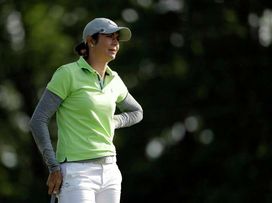 Laura Diaz watches her tee shot on the seventh hole during the second round of the Indy Women in Tech Championship golf tournament, Friday, Sept. 8, 2017, in Indianapolis. (AP Photo/Darron Cummings Photo: Darron Cummings / Copyright 2017 The Associated Press. All rights reserved.