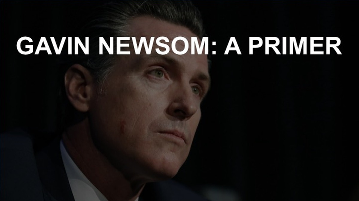 Click on for a brief rundown of Gavin Newsom and his political career.