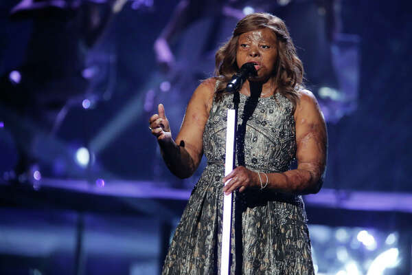 Kechi performs on the America's Got Talent finals.