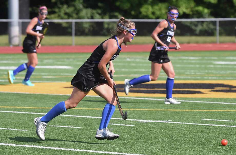 Action from Daniel Hand against Darien field hockey in Madison on  September 16, 2017.  Arnold Gold / Hearst Connecticut Media Photo: Arnold Gold / Hearst Connecticut Media / New Haven Register