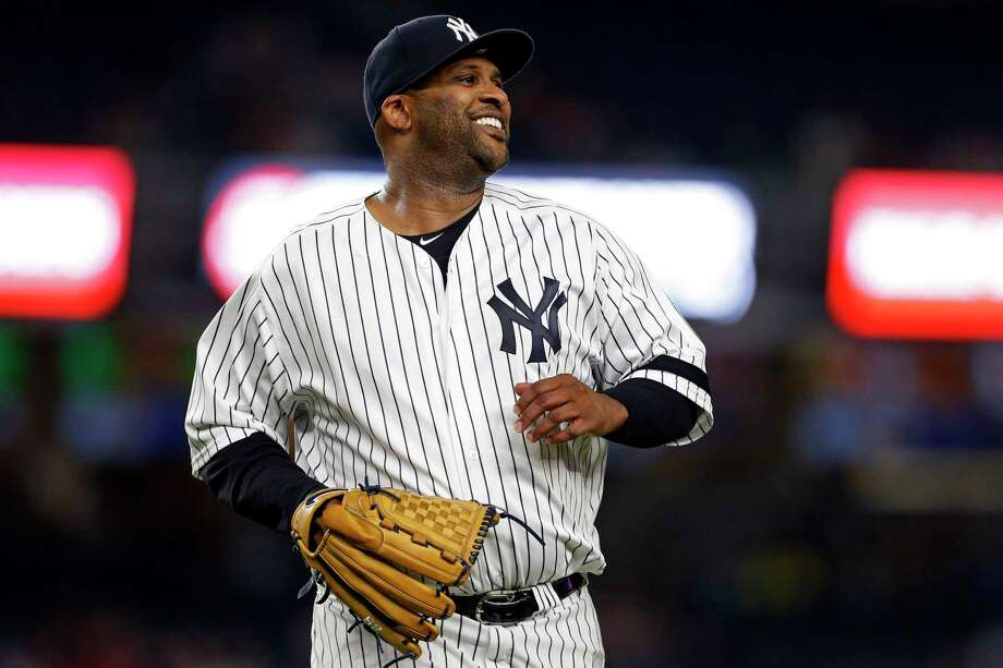 NEW YORK, NY - SEPTEMBER 19: CC Sabathia #52 of the New York Yankees reacts after the final out against the Minnesota Twins during the first inning at Yankee Stadium on September 19, 2017 in the Bronx borough of New York City. (Photo by Adam Hunger/Getty Images) ORG XMIT: 700012514 Photo: Adam Hunger / 2017 Getty Images