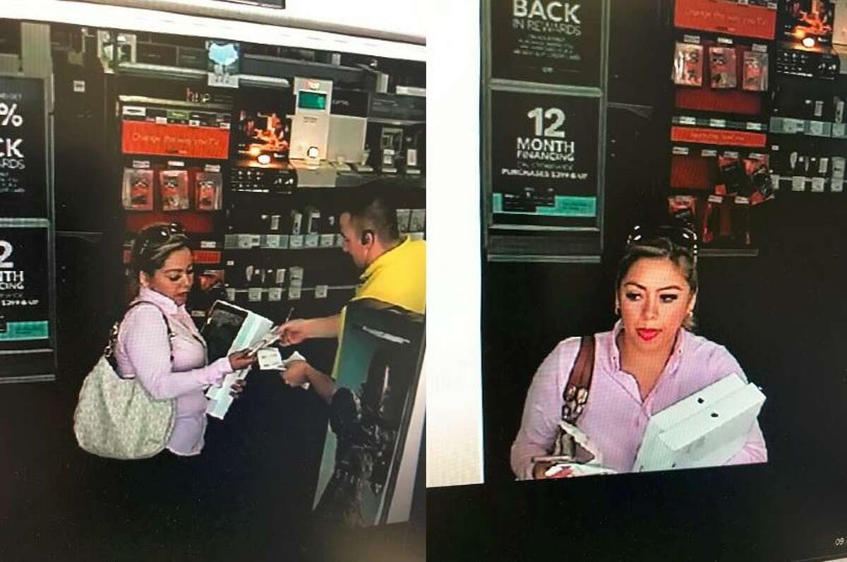 Police are looking to identify a woman accused of fraudulently using a credit card on over $4,000 worth of electronics.