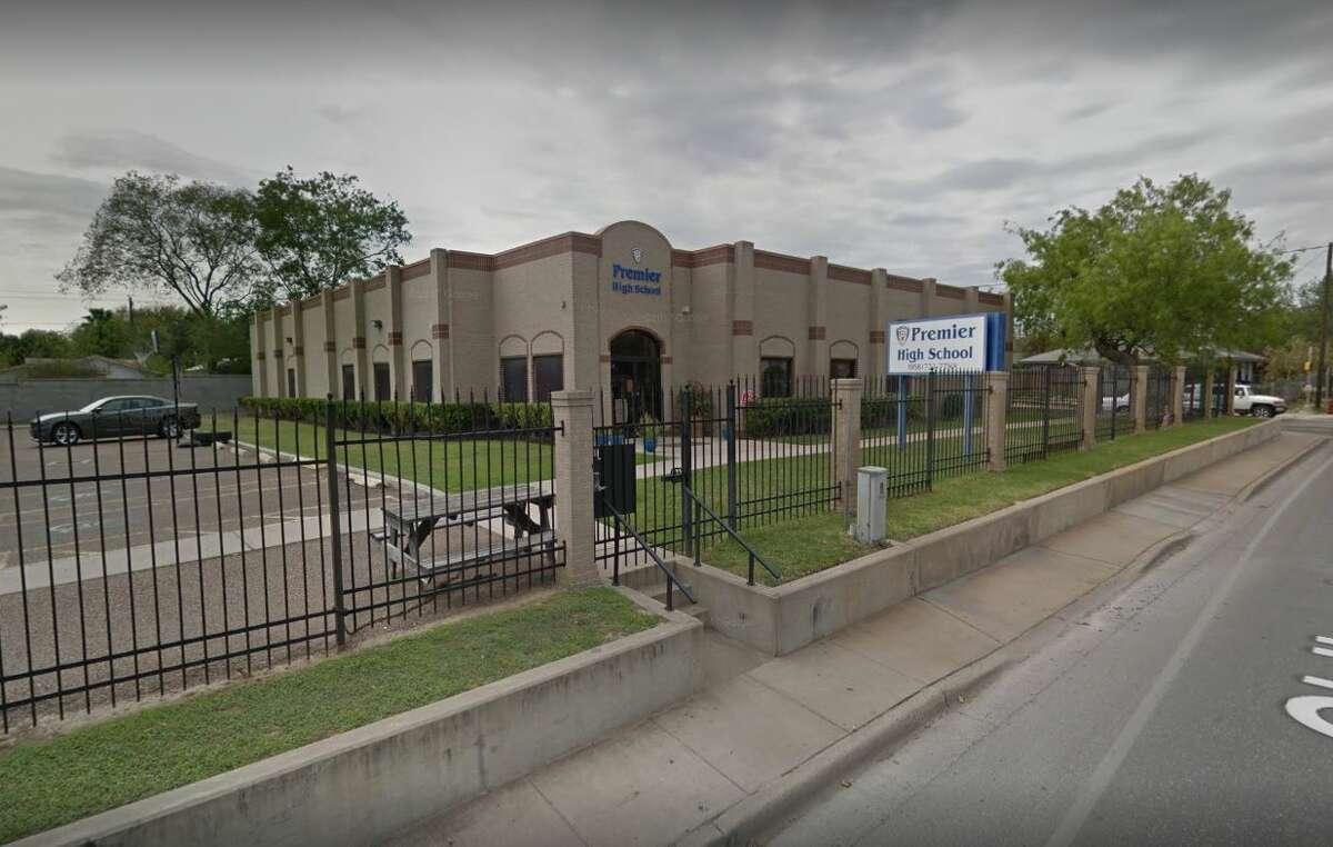 12. Premier High School of Laredo: C- Charter Reading proficient: 45 percent Math proficient: 55 percent