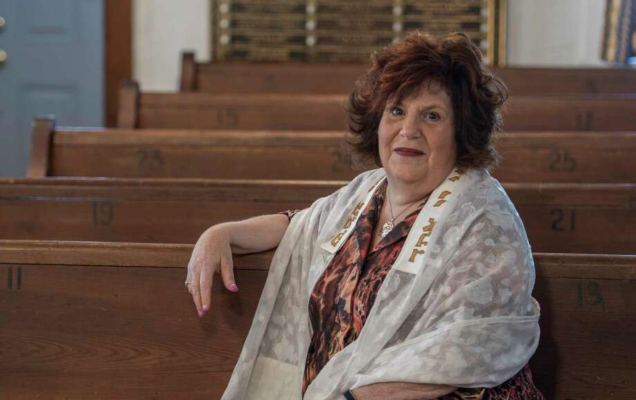 Pam Tatar, president of the Nassau Synagogue in her sanctuary Tuesday Sept. 19, 2017 in Nassau, N.Y.    (Skip Dickstein/Times Union) Photo: SKIP DICKSTEIN / 20041595A