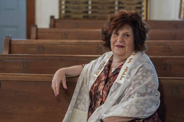Pam Tatar, president of the Nassau Synagogue in her sanctuary Tuesday Sept. 19, 2017 in Nassau, N.Y.    (Skip Dickstein/Times Union)