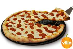 """A promotional photo shows Villa Italian Kitchen's """"Pumpkin Spice Pizza"""" which will be available to consumers on Sept. 22."""