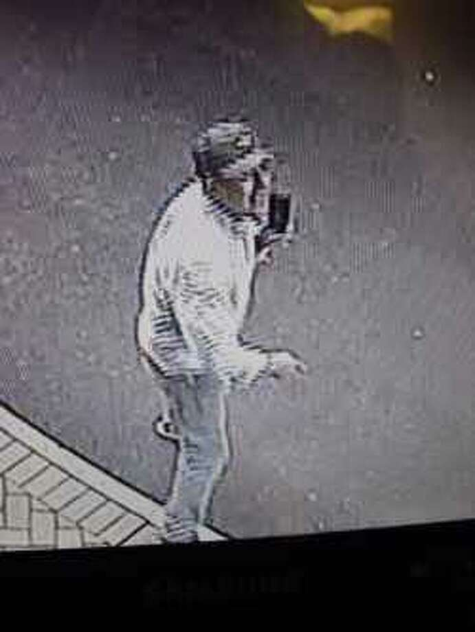 An image captured by surveillance cameras at Breitling's Wilton offices. Photo: Wilton Police Department
