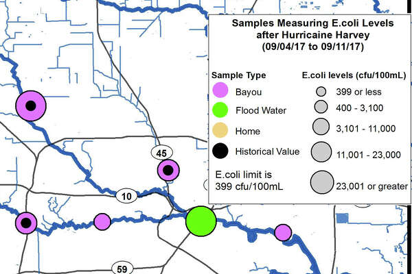 New maps show how contaminated Houston surface water was following