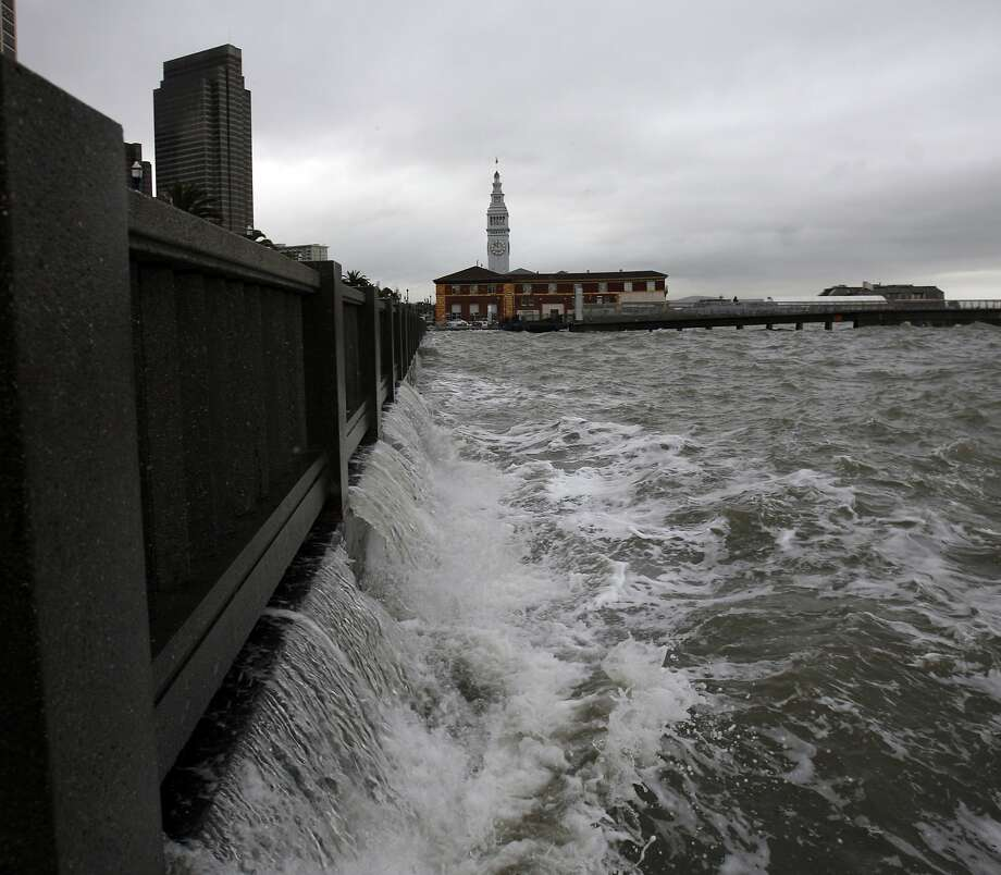 Rising seas are expected to test San Francisco's infrastructure along the bay. Already parts of the Embarcadero experience flooding during high tides. Photo: Kim Komenich, SFC