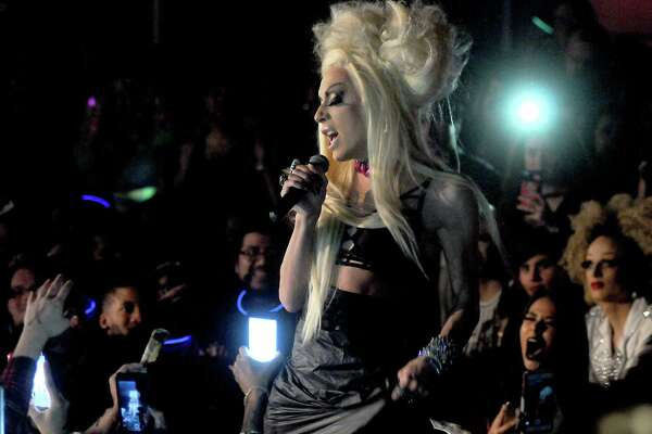 RuPaul's Drag Race star Alaska performs at South Beach Saturday Feb. 18, 2017.(Dave Rossman photo)